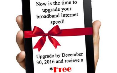 Receive a FREE Kindle Fire by upgrading your broadband speed now through Decembe…
