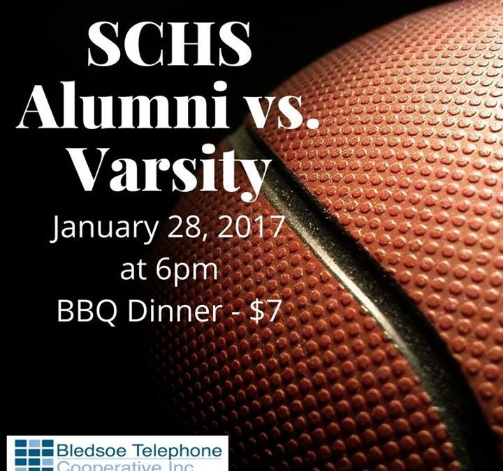 Hope to see everyone at the SCHS Alumni game next Saturday, January 28, 2017 sta