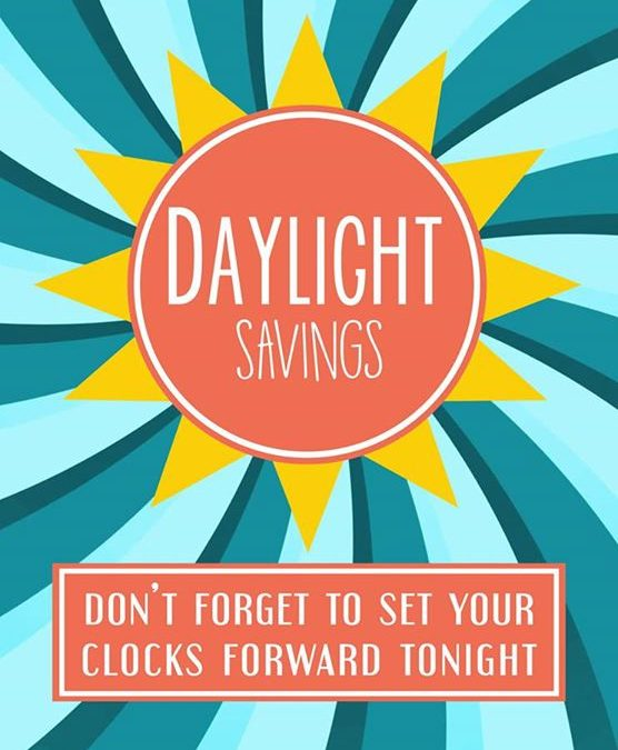 Don't forget spring forward your clocks an hour tonight!