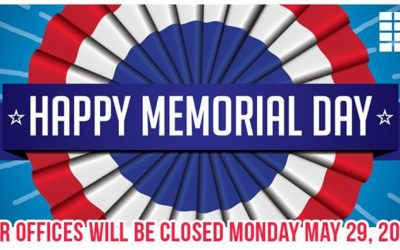 Happy Memorial Day! We will be closed all day today! We hope everyone has a wond
