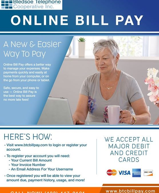 Are you struggling to find time to come in and pay your bill? If so, register fo