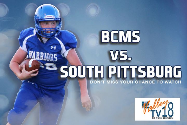 #BTCValleyTV You can watch the BCMS vs. South Pittsburg football game tonight a
