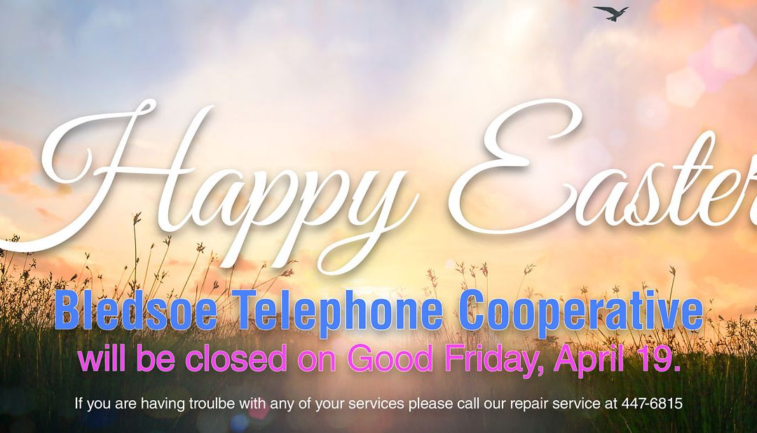 We wish you a Happy Easter holiday!!! BTC offices will be closed on Good Friday