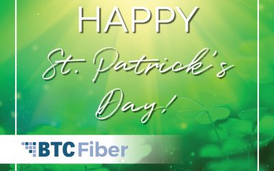 You don't have to have the luck of the Irish to get gig speed internet. Call 423