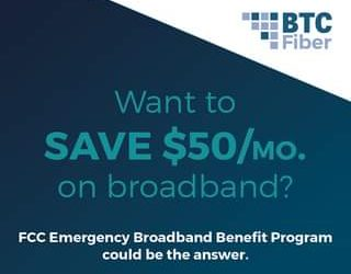 Qualifying households may receive up to a $50 credit on their monthly internet b